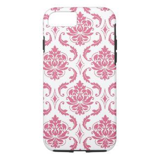 Caso femenino del iPhone 7 del damasco blanco Funda iPhone 7
