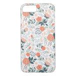 Caso femenino del iPhone 7 del estampado de flores Funda iPhone 7