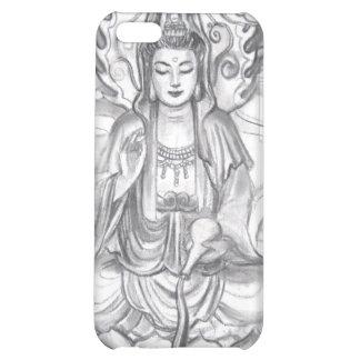 Caso femenino del iPhone de la meditación de Buda