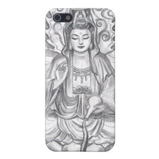 Caso femenino del iPhone de la meditación de Buda  iPhone 5 Fundas