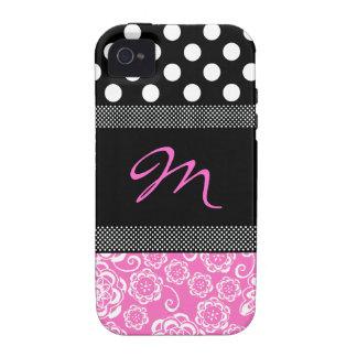Caso femenino elegante del iphone 4 del monograma Case-Mate iPhone 4 fundas