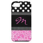 Caso femenino elegante del iphone 5 del monograma iPhone 5 Case-Mate cárcasa