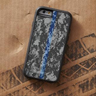 Caso fino del iPhone 6 de Blue Line Camo Funda Tough Xtreme iPhone 6