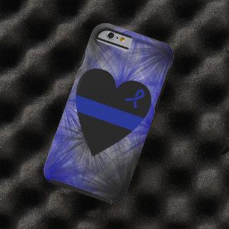 Caso fino del iPhone 6 del corazón de Blue Line Funda Resistente iPhone 6