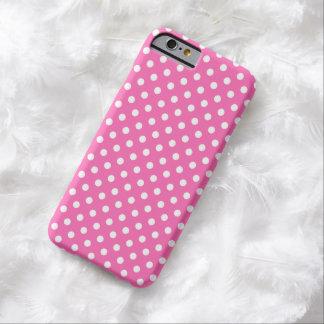 Caso fino rosado medio del iPhone 6 del lunar Funda De iPhone 6 Barely There