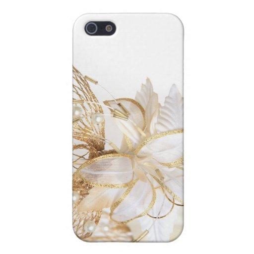 Caso floral 4 del iPhone del oro iPhone 5 Coberturas