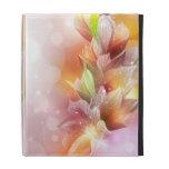 Caso floral abstracto brillante del iPad
