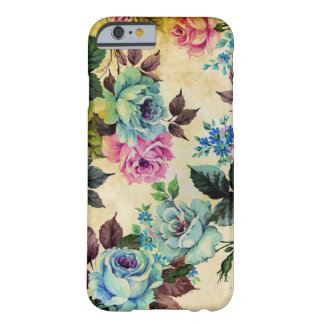 Caso floral antiguo del iPhone 6 Funda De iPhone 6 Barely There