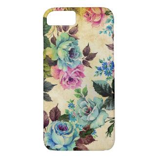Caso floral antiguo del iPhone 7 Funda iPhone 7