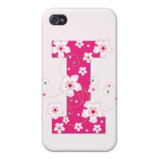 Caso floral bonito del iphone 4 de la inicial I de iPhone 4 Cobertura