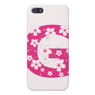 Caso floral bonito inicial del iphone 4 de G del m iPhone 5 Funda