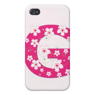 Caso floral bonito inicial del iphone 4 de G del m iPhone 4 Cárcasas