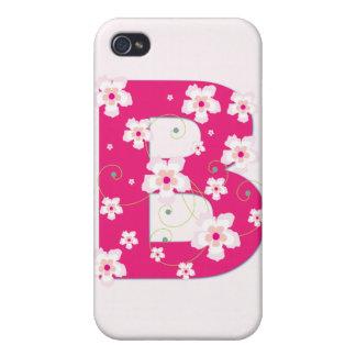 Caso floral bonito inicial del iphone 4 del monogr iPhone 4/4S carcasa