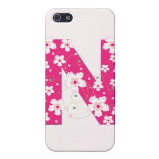 Caso floral bonito inicial del iphone 4 del monogr iPhone 5 funda