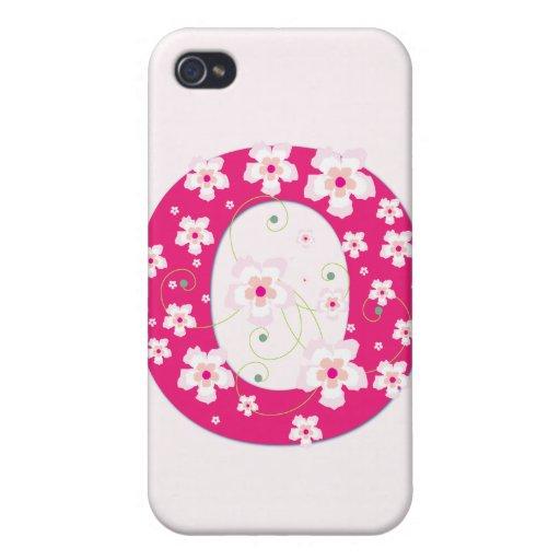 Caso floral bonito inicial del iphone 4 del monogr iPhone 4 coberturas