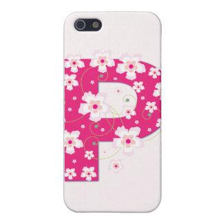 Caso floral bonito inicial del iphone 4 del monogr iPhone 5 carcasa