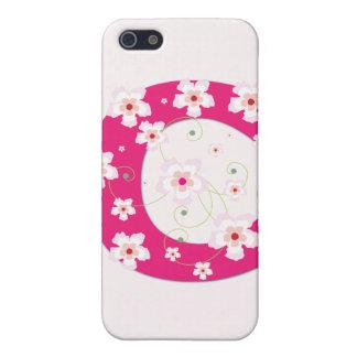 Caso floral bonito inicial del iphone 4 del monogr iPhone 5 cárcasas