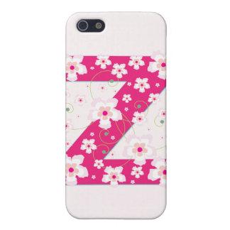 Caso floral bonito inicial del iphone 4 del monogr iPhone 5 cárcasa