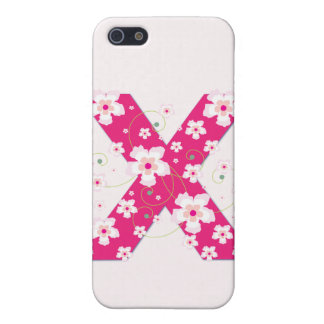 Caso floral bonito inicial del iphone 4 del monogr iPhone 5 coberturas