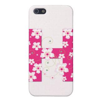 Caso floral bonito inicial del iphone 4 del monogr iPhone 5 carcasas