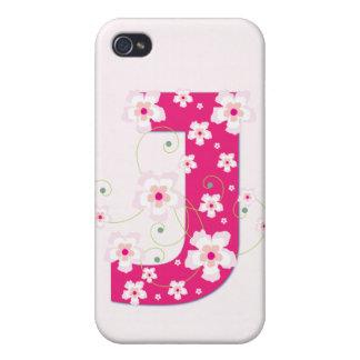 Caso floral bonito inicial del iphone 4 del monogr iPhone 4 cárcasas