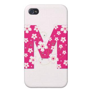 Caso floral bonito inicial del iphone 4 del monogr iPhone 4/4S funda