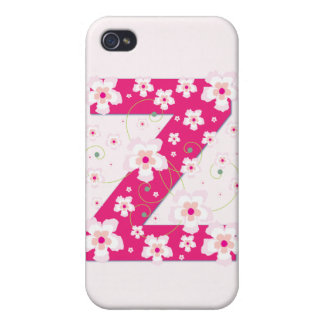 Caso floral bonito inicial del iphone 4 del monogr iPhone 4 carcasas
