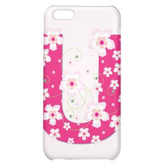 Caso floral bonito inicial del iphone 4 del monogr