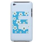 Caso floral bonito inicial del monograma E iPod 4G iPod Touch Coberturas