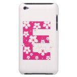 Caso floral bonito inicial del monograma E iPod 4G iPod Case-Mate Coberturas