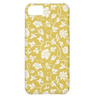 Caso floral de bambú del iPhone 5 del damasco