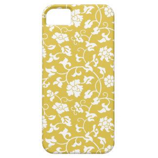 Caso floral de bambú del iPhone 5 del damasco iPhone 5 Case-Mate Coberturas