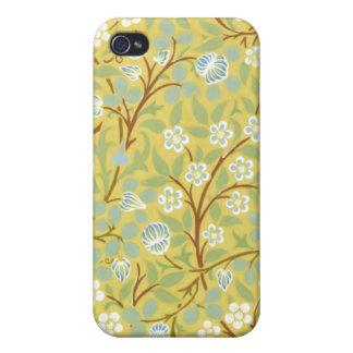 Caso floral de Iphone 4/4S del vintage iPhone 4 Cárcasas