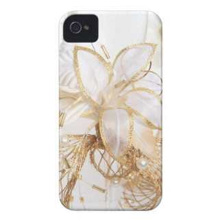 Caso floral de Iphone 4S del oro Funda Para iPhone 4 De Case-Mate