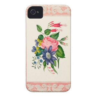 Caso floral de Iphone 4S del vintage Carcasa Para iPhone 4 De Case-Mate