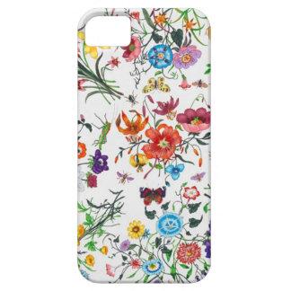 caso floral de Iphone de la bufanda del diseñador  iPhone 5 Coberturas