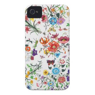 caso floral de Iphone de la bufanda del diseñador  iPhone 4 Case-Mate Funda