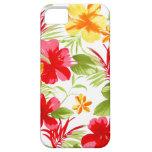 Caso floral de la fiesta iPhone5 del hibisco iPhone 5 Fundas