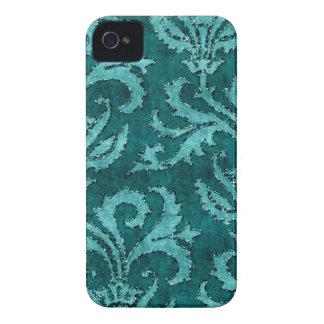 Caso floral de la mirada del terciopelo del brillo iPhone 4 funda