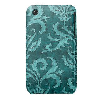Caso floral de la mirada del terciopelo del brillo Case-Mate iPhone 3 fundas