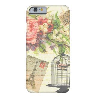 Caso floral de París del pájaro del Victorian del Funda Barely There iPhone 6