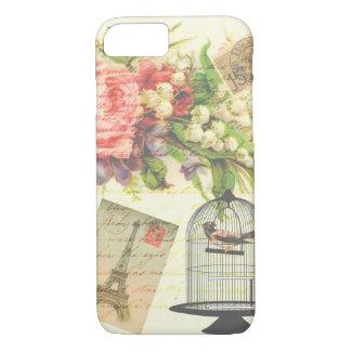 Caso floral de París del pájaro del Victorian del Funda iPhone 7