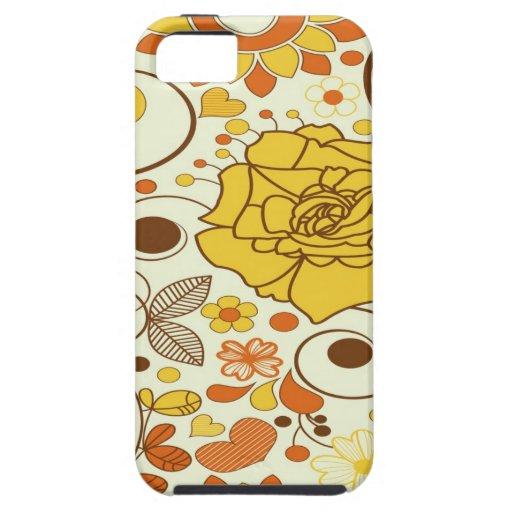 Caso floral del ambiente del iPhone 5 iPhone 5 Fundas