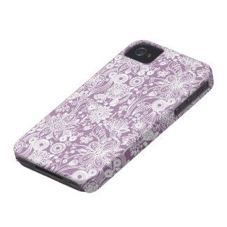 Caso floral del compañero del caso del iPhone 4/4S Case-Mate iPhone 4 Cárcasas