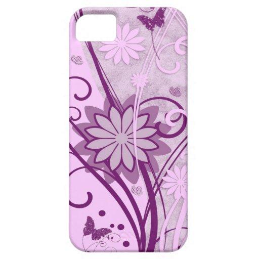 Caso floral del compañero del caso del iPhone 5 Funda Para iPhone 5 Barely There