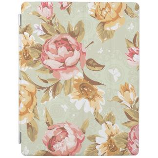 Caso floral del iPad del damasco de los rosas Cover De iPad