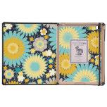 Caso floral del iPad del DODO lindo del amarillo y iPad Fundas