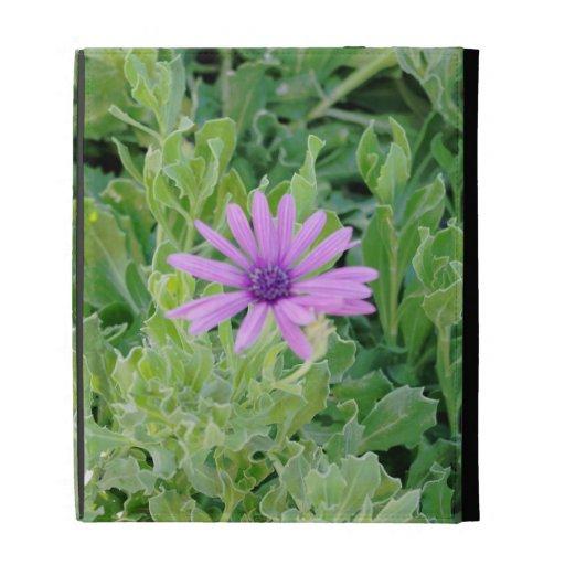 Caso floral del iPad del Gerbera púrpura