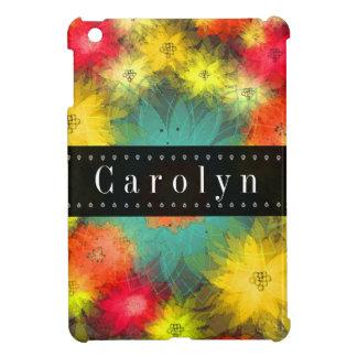 Caso floral del iPad del Grunge magnífico mini iPad Mini Protectores