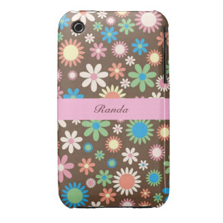 Caso floral del iPhone 3 del tono de la tierra Funda Bareyly There Para iPhone 3 De Case-Mate
